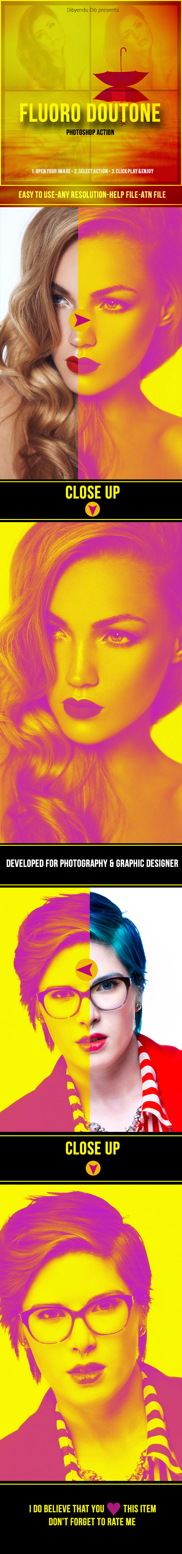 Fluoro Duotone - Photo Effects Actions