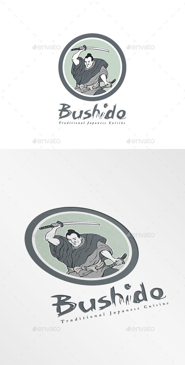 Bushido Japanese Cuisine Logo - Humans Logo Templates
