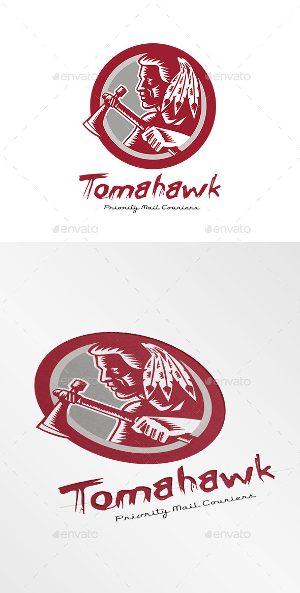 Tomahawk Priority Mail Couriers Logo - Humans Logo Templates