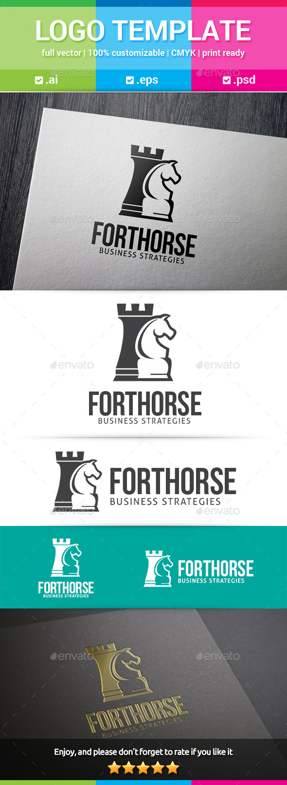 Fort Horse Chess Logo - Objects Logo Templates