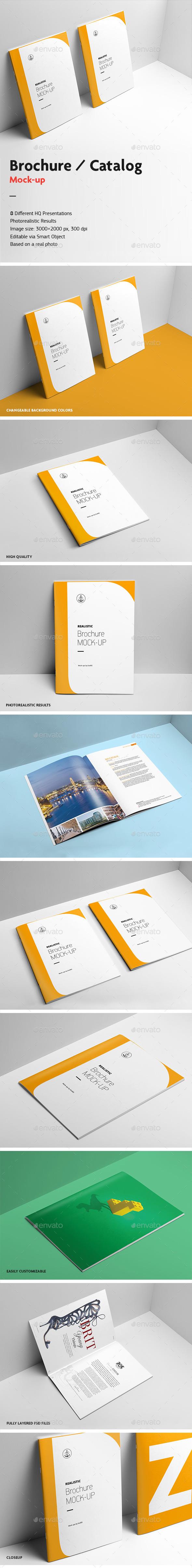 Brochure / Catalog Mock-Up v.2 - Brochures Print