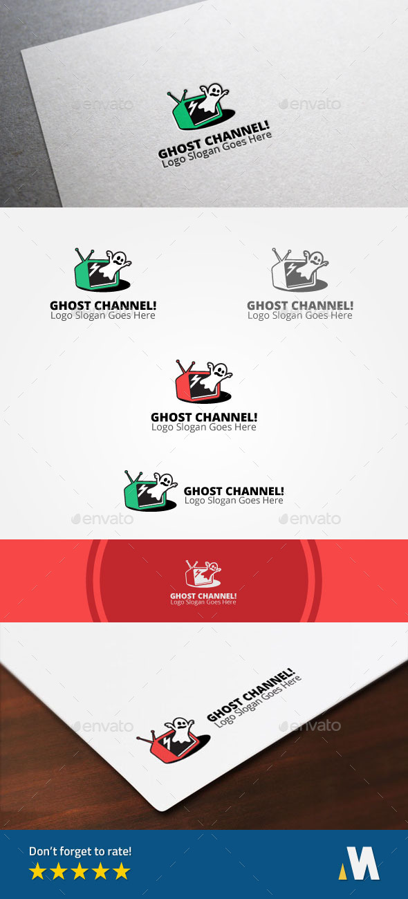 Ghost Channel or Horror Scary Horror Television - Objects Logo Templates