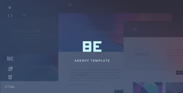 Be – Responsive HTML5 Agency Template