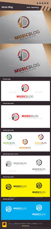 Music Blog Logo Template - Symbols Logo Templates
