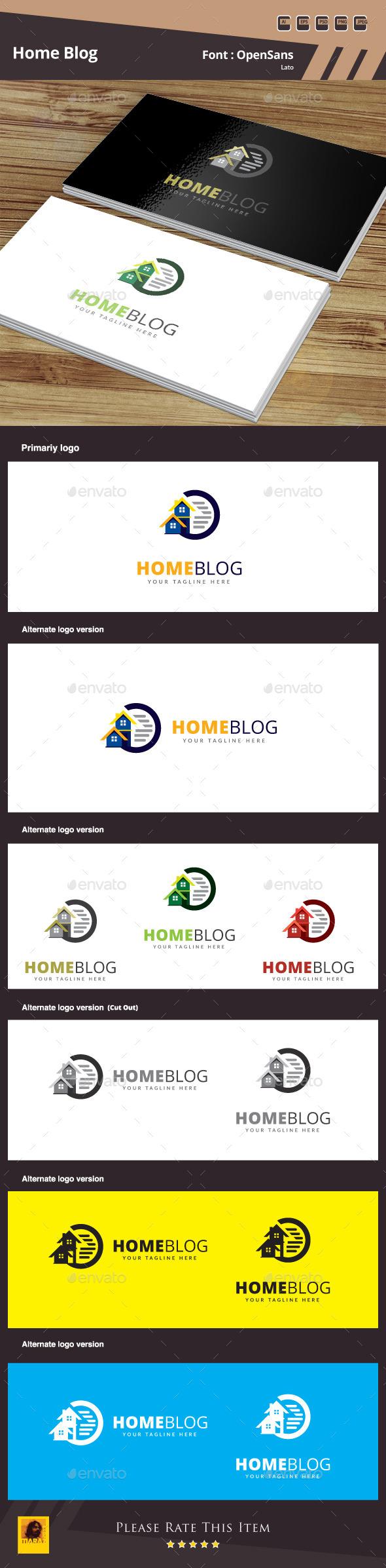 Home Blog Logo Template - Buildings Logo Templates