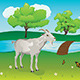 Goat and Green Lawn - GraphicRiver Item for Sale