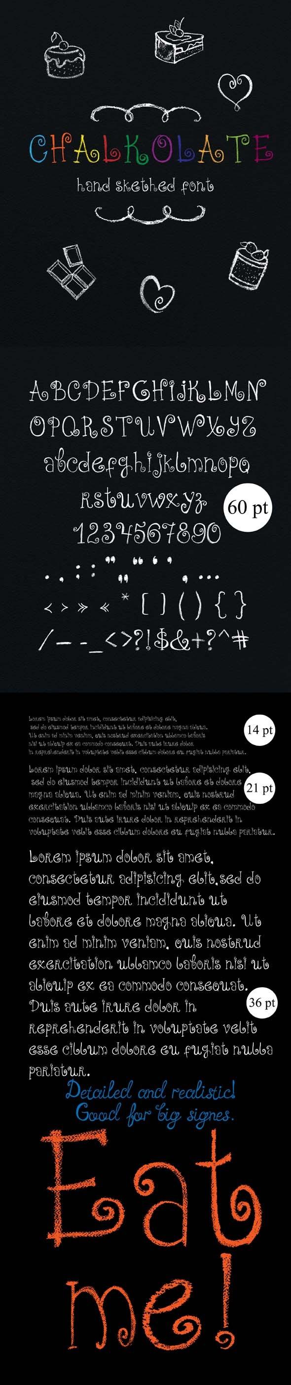 Chalkolate Font - Decorative Fonts
