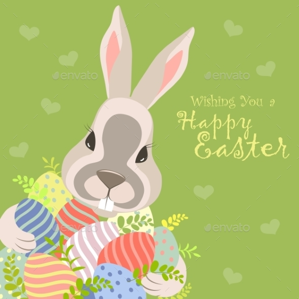 Easter Bunny and Easter Eggs  - Seasons/Holidays Conceptual