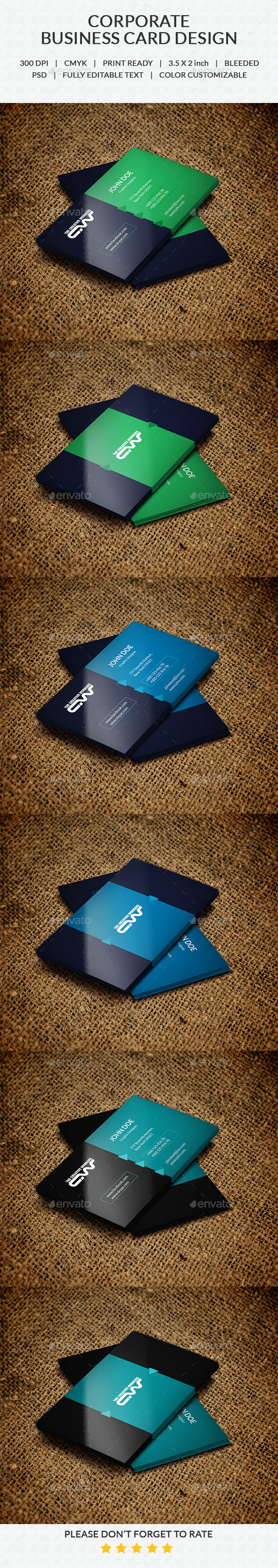 Business Card V-2 - Corporate Business Cards