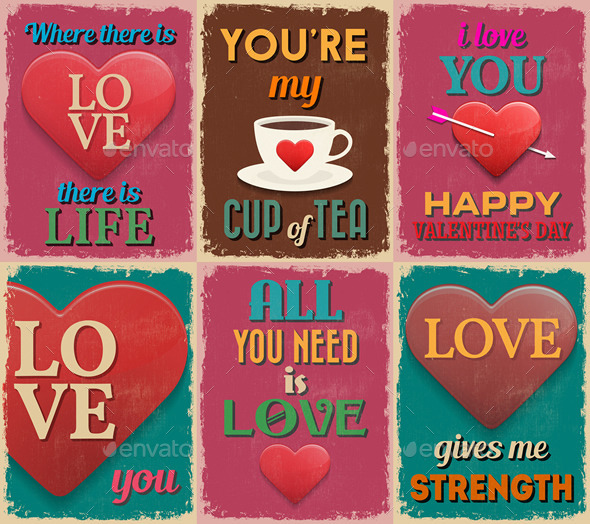 Valentine's Day Love Posters - Valentines Seasons/Holidays