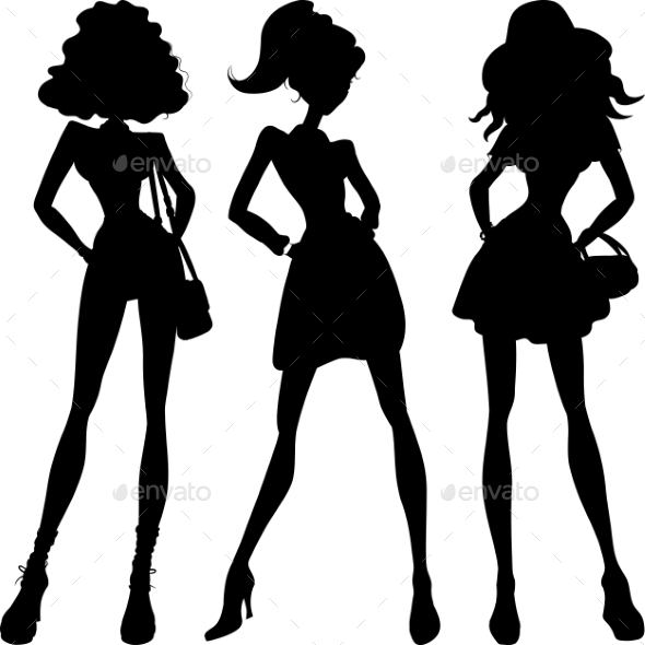 Silhouette Fashion Girls Top Models  - People Characters