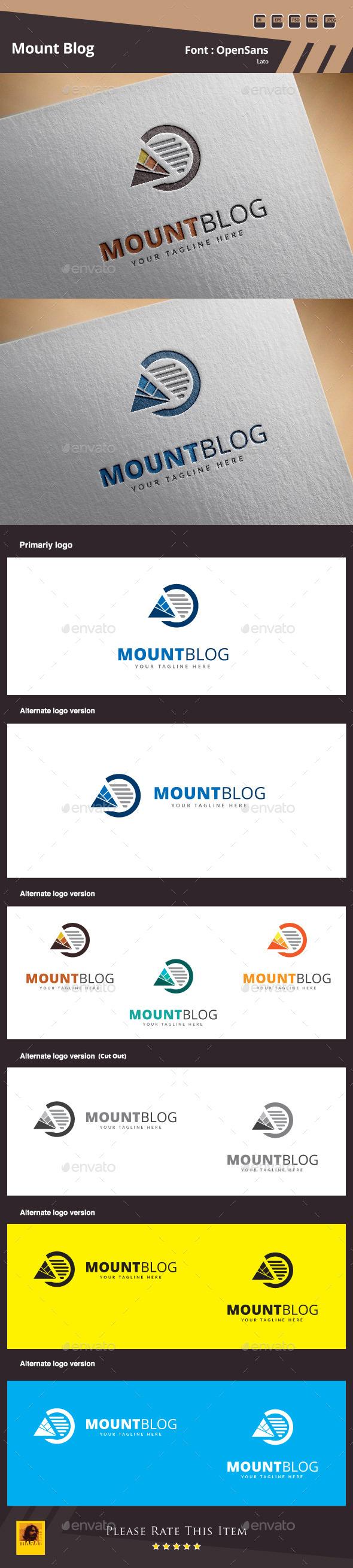 Mount Blog Logo Template - Objects Logo Templates