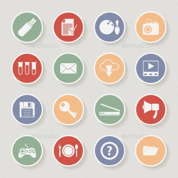 Universal Round Icons - Web Technology
