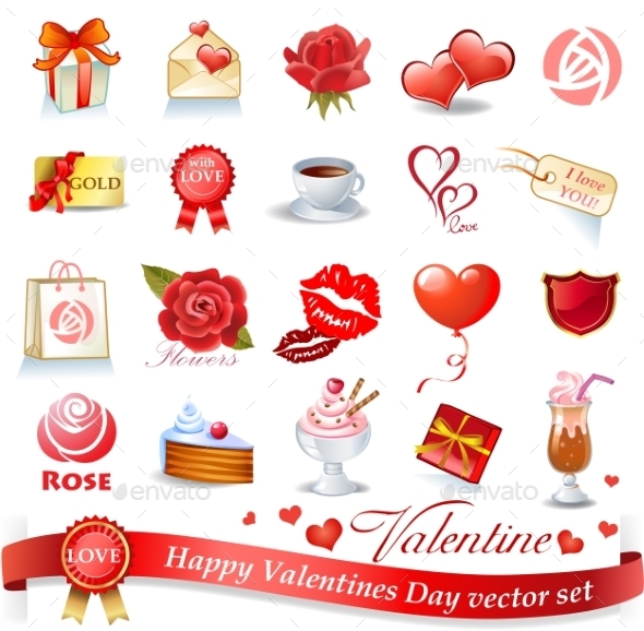 Valentines Design Elements - Valentines Seasons/Holidays