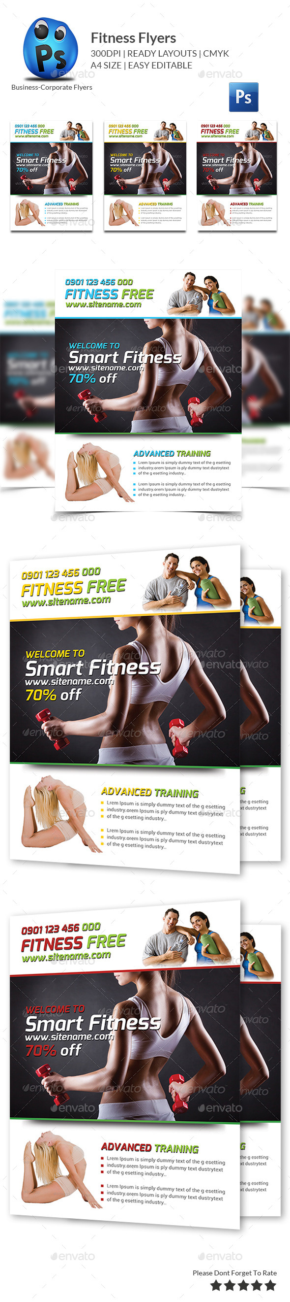 Fitness Flyer - Gym Flyer - Flyers Print Templates