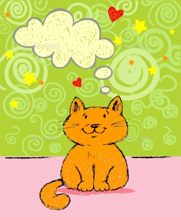 Greeting Card with Red Cat - Birthdays Seasons/Holidays