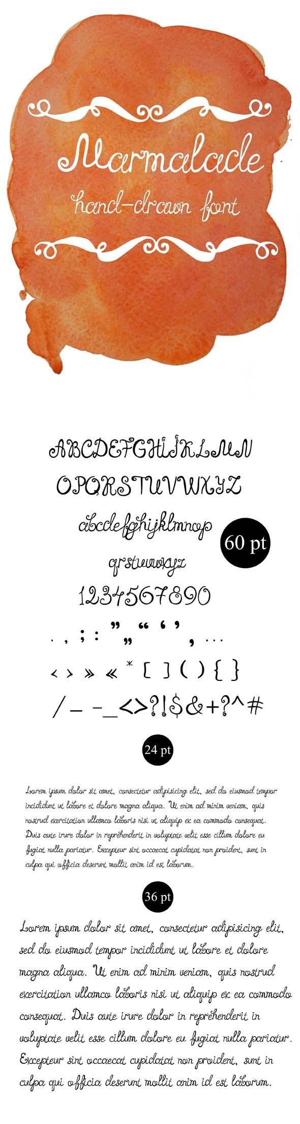 Marmalade Hand-Written Font - Hand-writing Script