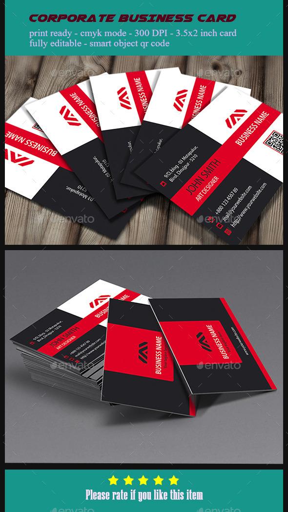 Corporate  Business Card - V3 - Corporate Business Cards