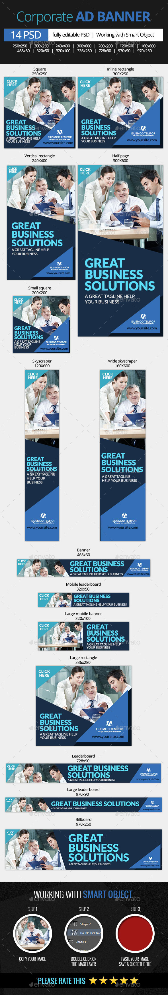 Corporate and Business Web Banners - Banners & Ads Web Elements