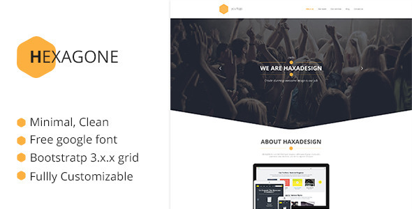 Hexagone PSD template - Corporate PSD Templates