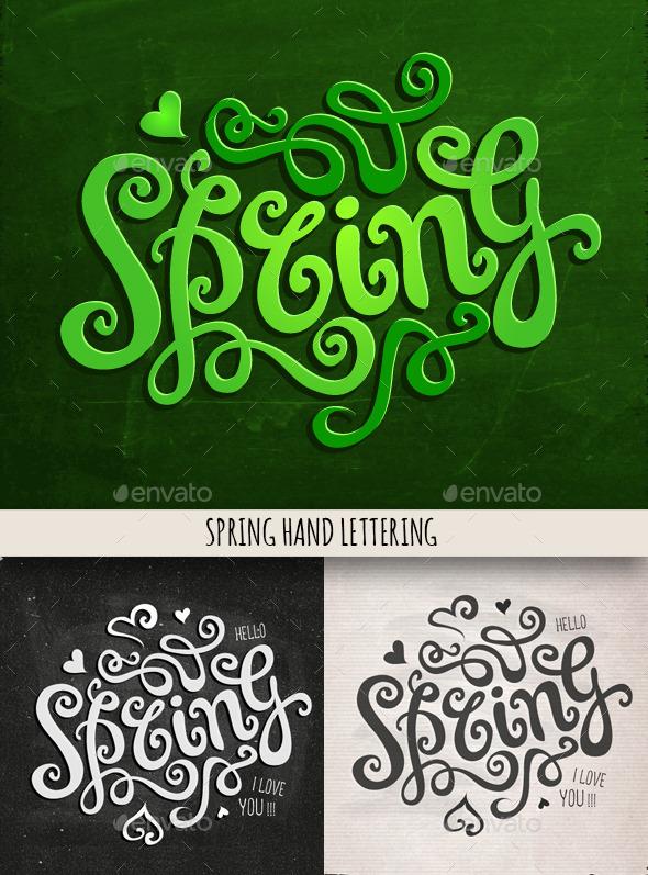 Spring Hand Lettering Set - Seasons Nature