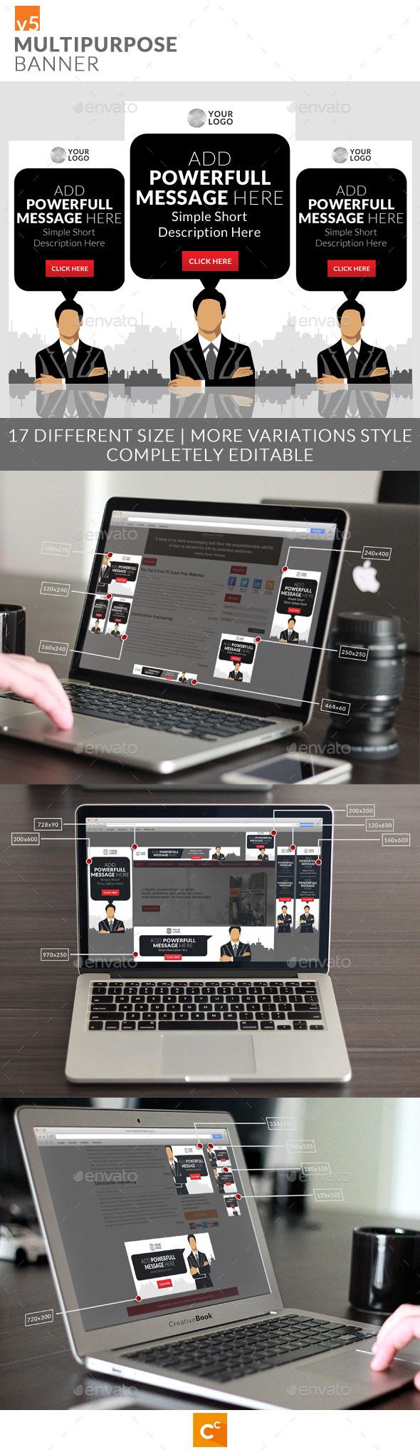 Multipurpose Banner Ads v5 - Banners & Ads Web Elements