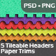 Paper Trims - Tileable Headers for Web - GraphicRiver Item for Sale