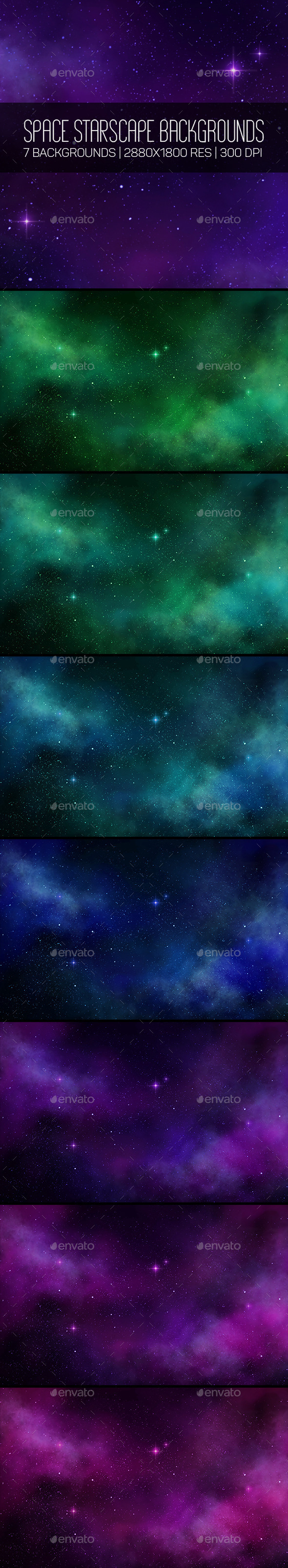 Space Starscape Backgroungs - Abstract Backgrounds