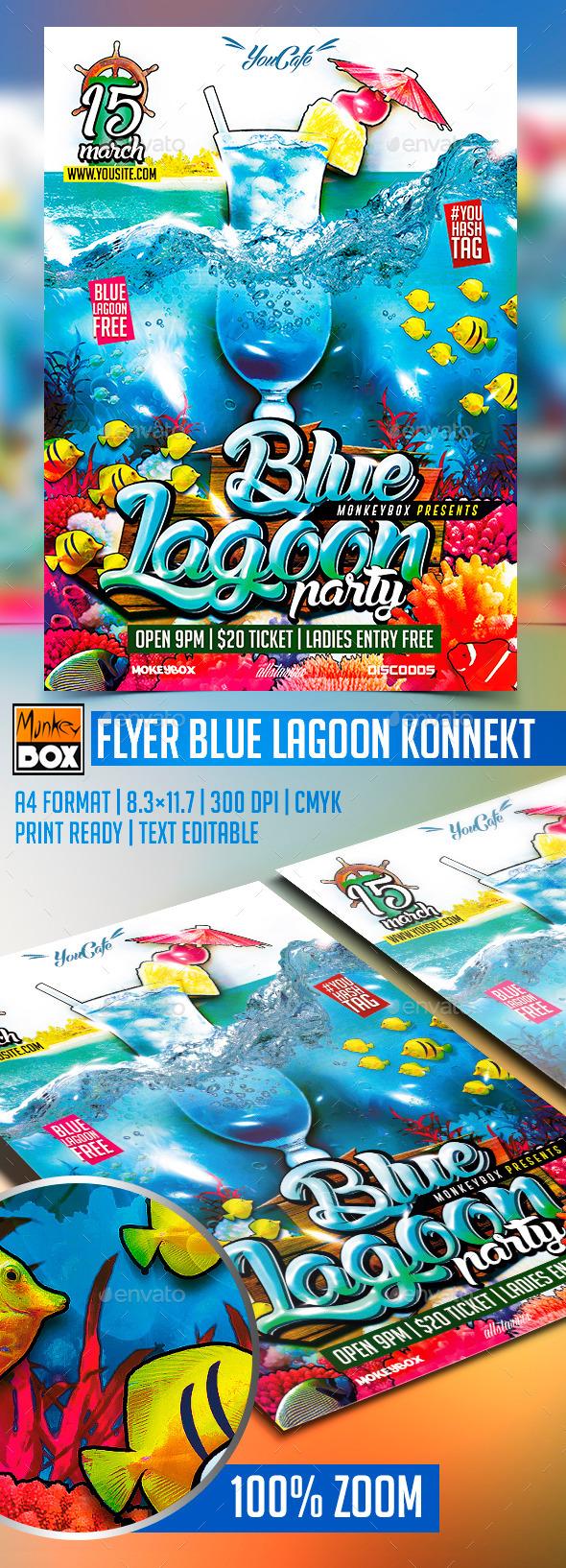 Flyer Blue Lagoon Konnekt - Events Flyers