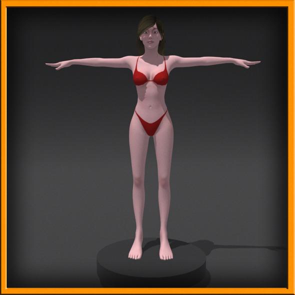 Realistic female Body [No Rig]