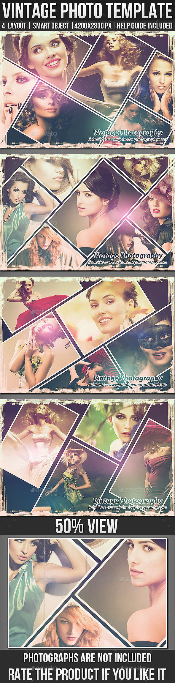 Vintage Photo Templates - Photo Templates Graphics