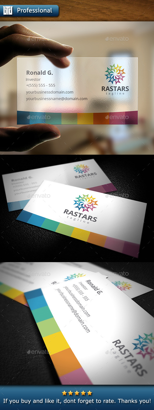 Stars Business Card - Creative Business Cards