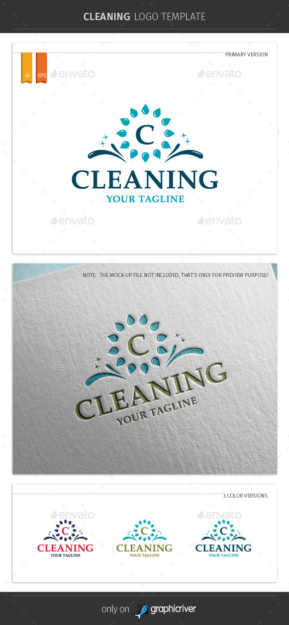 Cleaning Logo Template - Symbols Logo Templates