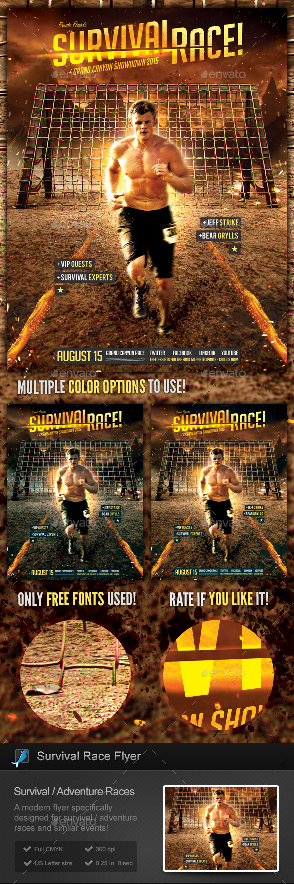 Survival Races - Adventure Flyer Template - Sports Events