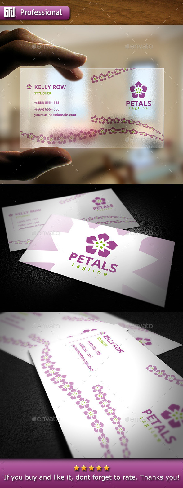 Beauty Business Card - Industry Specific Business Cards