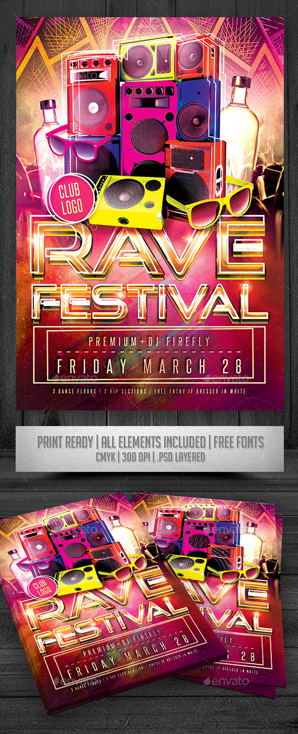 Rave Festival Flyer - Events Flyers