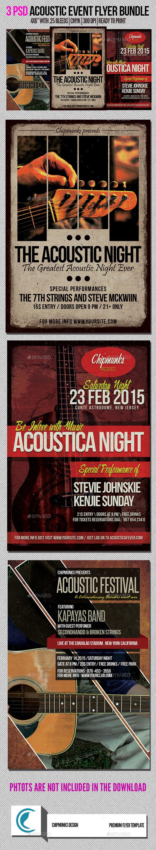 Acoustic Flyer Bundle Volume 1 - Concerts Events