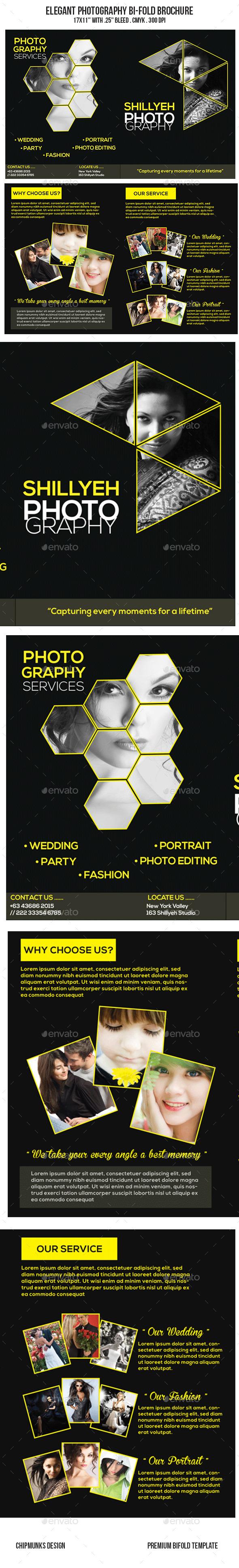 Elegant Photography Bi-Fold Brochure - Portfolio Brochures