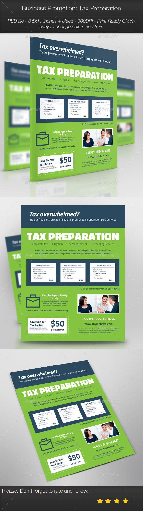 Business Promotion: Tax Preparation - Corporate Flyers