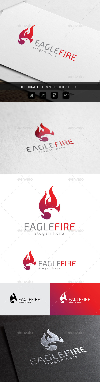 Eagle Fire - Bird Phoenix - Animals Logo Templates