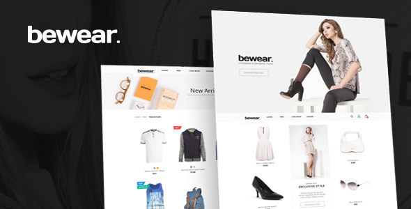 Bewear – Lookbook Style eCommerce PSD Template