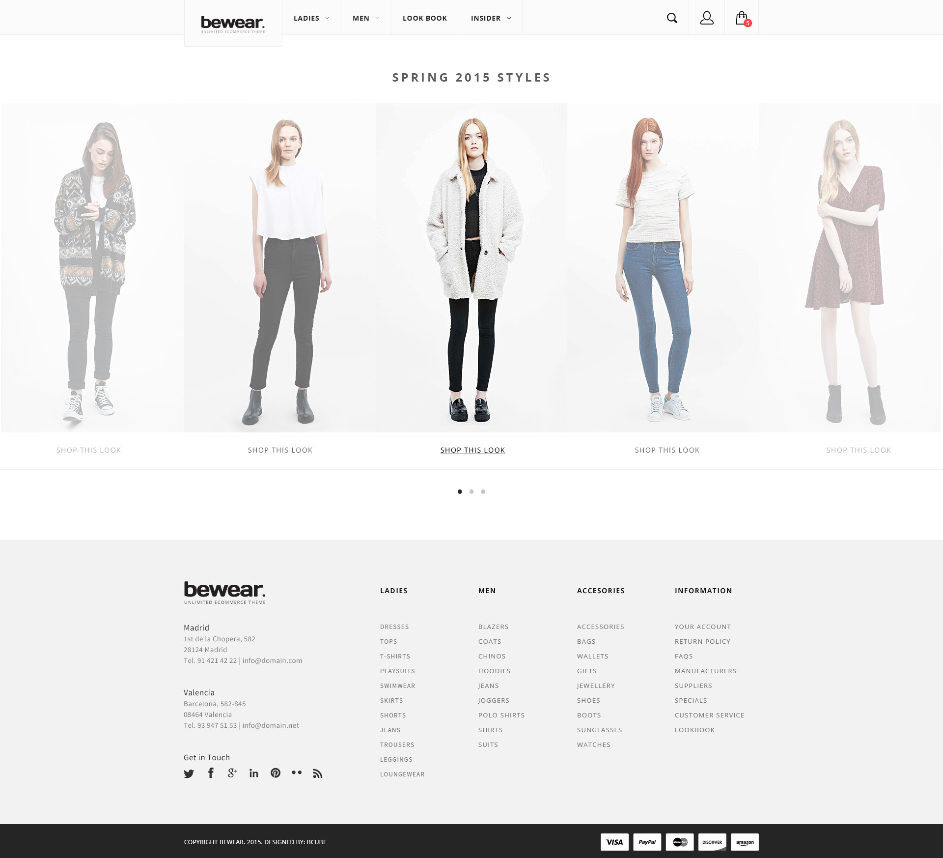 Bewear - Lookbook Style eCommerce PSD Template by bcube | ThemeForest