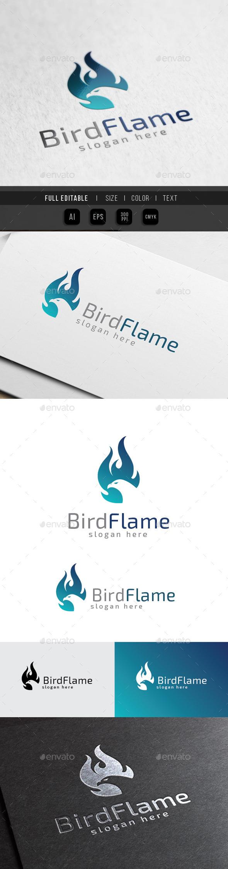 Phoenix Flame - Bird Burn Fire - Animals Logo Templates