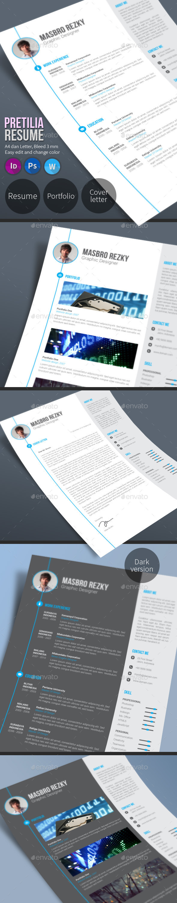 Pretilia Resume - Resumes Stationery