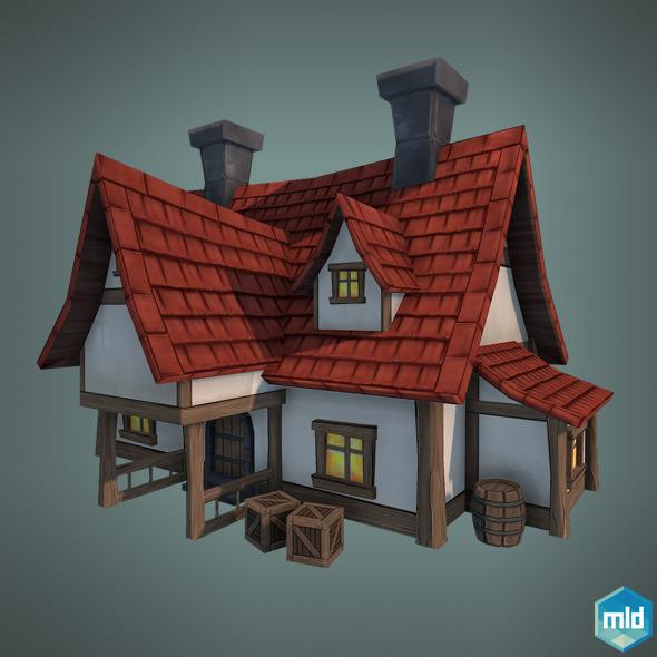 Low Poly Big House By Mladenca 3docean