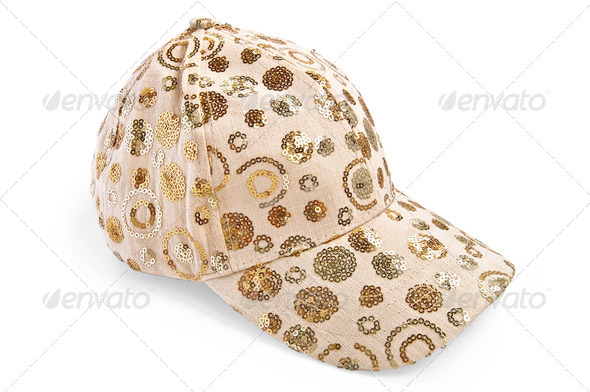Cap beige patterned - Stock Photo - Images