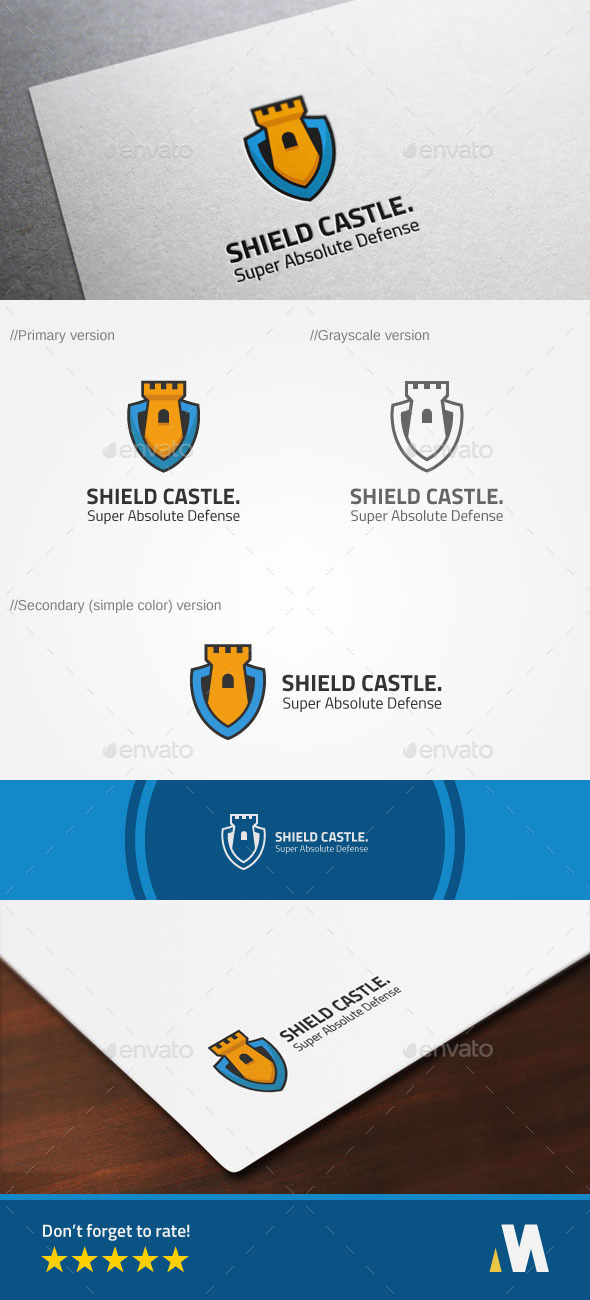 Shield Castle or Secure Fort Logo - Symbols Logo Templates