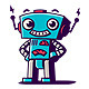 Retro Robot Character Logo - GraphicRiver Item for Sale