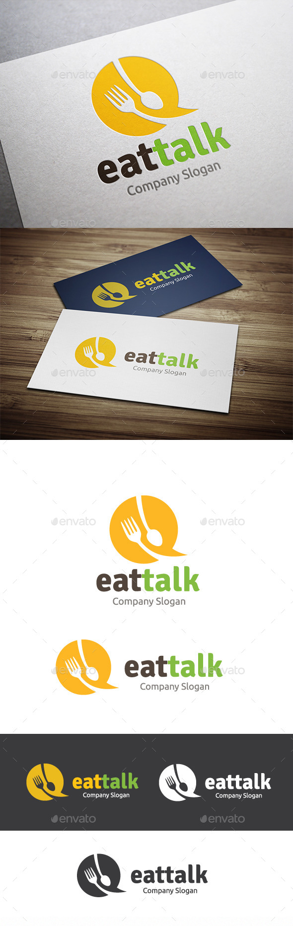 Eat Talk - Food Logo Templates