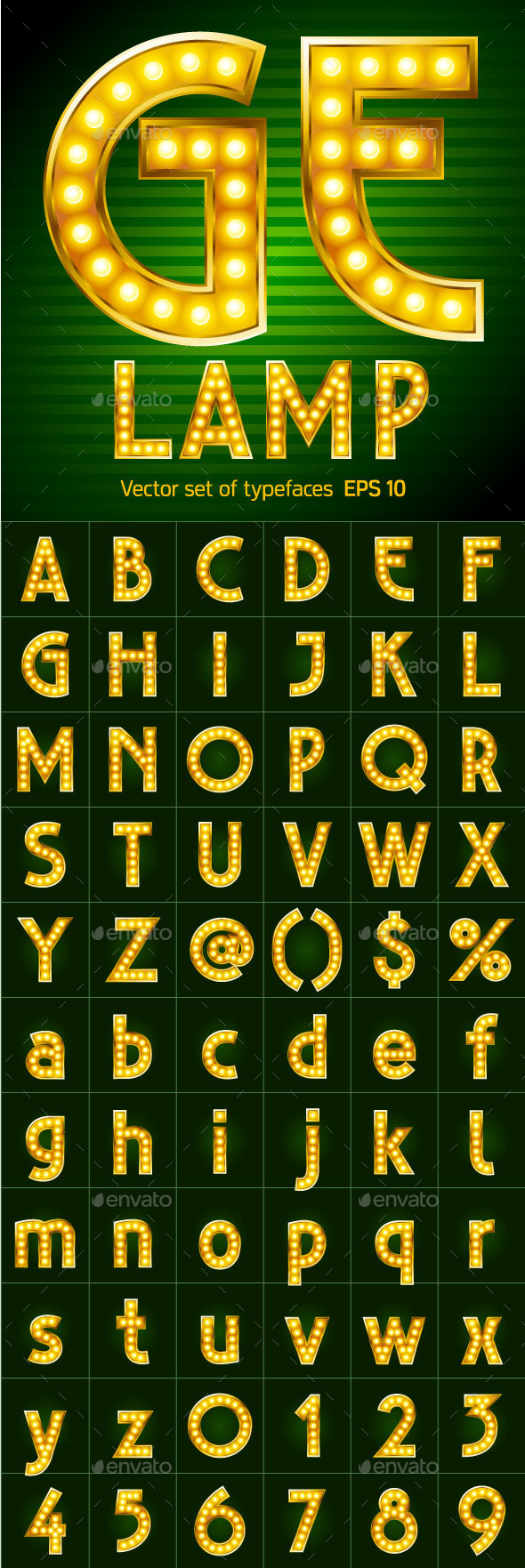 Letters for Signs with Lamps - Decorative Symbols Decorative